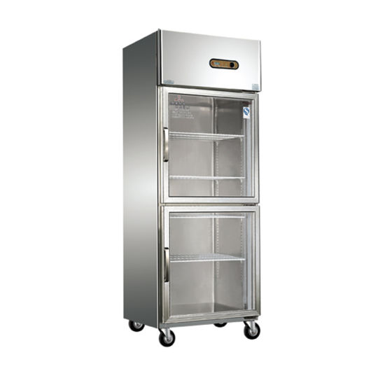 Commercial Refrigerator 2 Glass Doors Refrigerator and Freezer pictures & photos