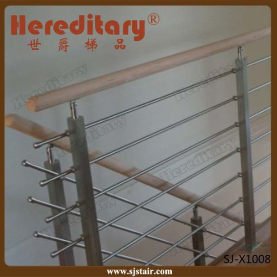 Exterior Porch Stainless Steel Balustrade for Balcony Railing (SJ-X1007) pictures & photos