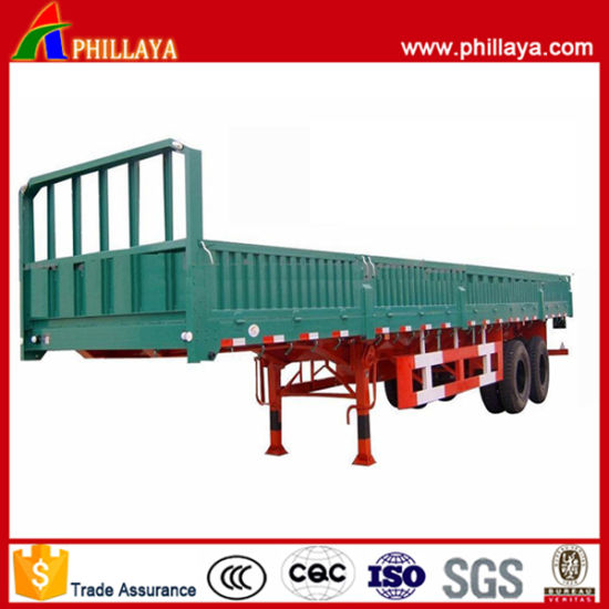 Phillaya Tandem Bogie Axle Double Axles Side Wall Semi Trailer pictures & photos