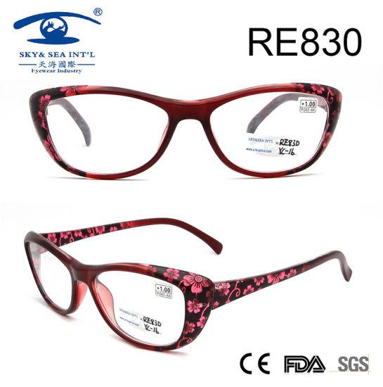 9cd821c5f6 2017 Wholesale Flower Patten Women Fashion Reading Glasses (RE830) pictures    photos