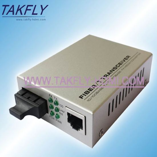 RS485/422/232 Single-Mode 20km 1310 /1550nm Wdm Fiber Media Converter pictures & photos