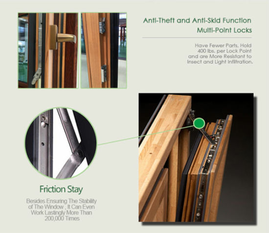 Truth Hardware French Casement Window with Oak Wood pictures & photos