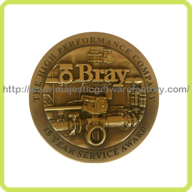 Customized 3D Antique Plating & Without Color Coin pictures & photos