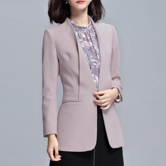 Various Colors Office Work Wear Special Design Ladies Suit