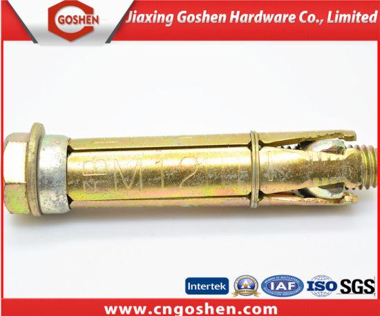 China Yellow Zinc Plated Three PCS Fix Bolt/ Heavy Duty