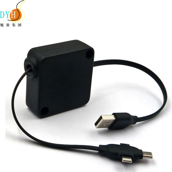 Moutable Wall Charger USB with Retractable Cable pictures & photos