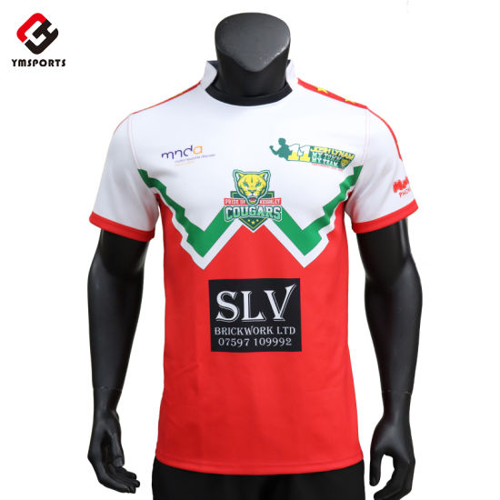 Rugby Shirt Football Wear Uniforms Printing Sublimation Rugby Jersey Custom Rugby Jersey