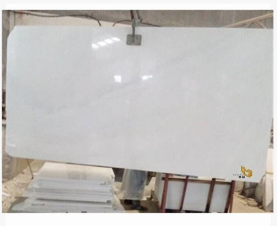 Polished Snow White Stone Marble Slabs for Flooring/Wall/Decoration/Building/Kitchen/Bathroom