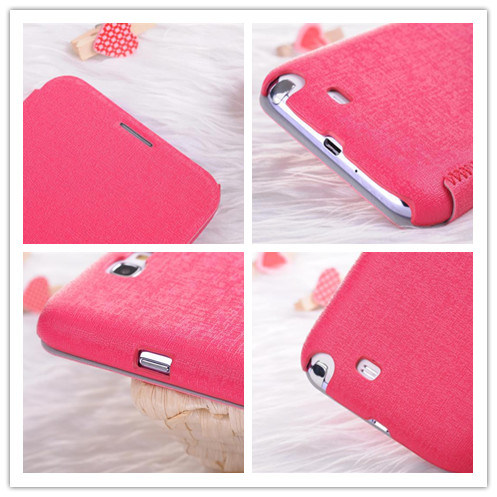 Flip Simplicity Leather Case for Samsung Galaxy Note 2 pictures & photos