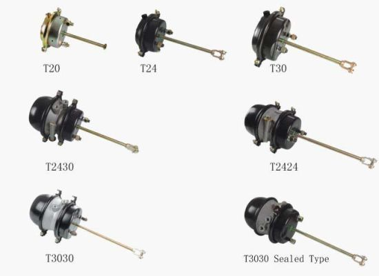 Axle Spare Parts Double Spring Brake Chamber T3030 pictures & photos