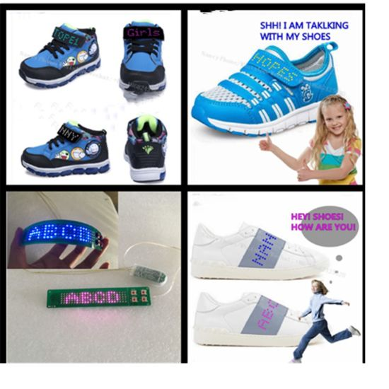 4cdc9d62a076 5X25pixel Shoes Sole Vamp LED Light Scrolling Text Flashing Shoes Light  Battery Power LED Strip Light