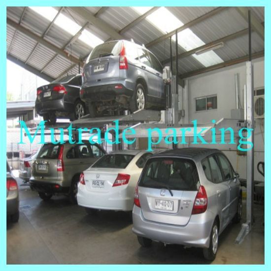 China Hydraulic Car Storage Lift Residential Use Two Post Garage