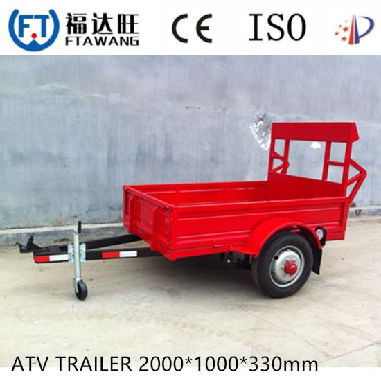 High Quality 7FT*4FT Cage Box Trailer Tendem Trailer