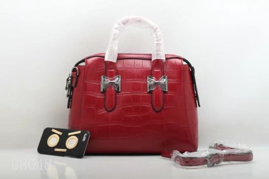 Special Handmade Good Quality Fashion Leather Handbag (F8048)