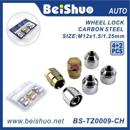 4+2PCS Wheel Lock Nut with Carbon Steel