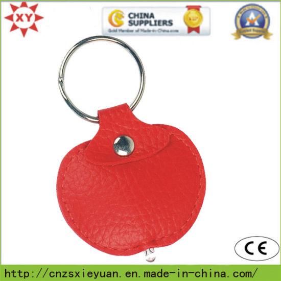 Blank Apple Flashing Leather Keychain