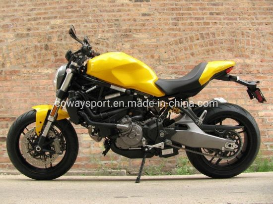 Hot Popular Colourful Cool Design Monster 821 Yellow Motorcycle