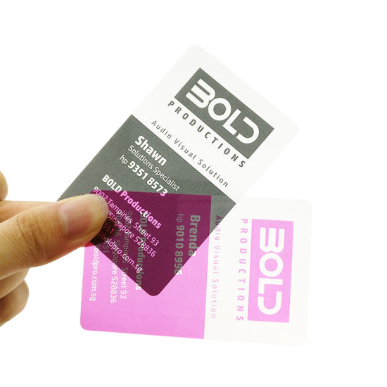 China cheap price one side printing plastic clear business card cheap price one side printing plastic clear business card reheart Image collections