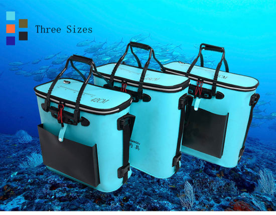 Live Fish Tank Barrel Fishing Carry Bag Folding Fishing Storage Box Fishing Bucket EVA Fishing Barrel Bag pictures & photos