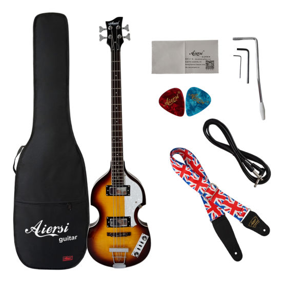 China Factory Price Black Colour Solid Basswood Body 5 String