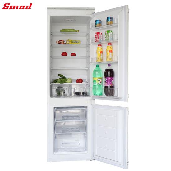 Double Door Compressor Built in Fridge Refrigerator for Home