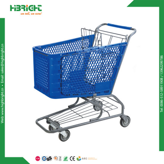 Colourful Plastic Shopping Cart Trolley pictures & photos