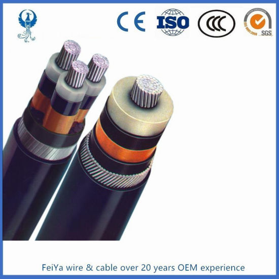 Mv Aluminum XLPE Insulated Wire Armored Electric Cable 35kv 150sqmm pictures & photos