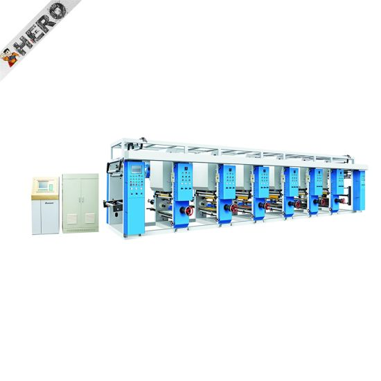 Hero Brand High-Speed Film Pet PVC PP BOPP CPP Rotogravure Printing Machine pictures & photos