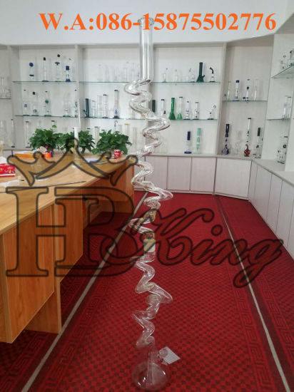 Hbking Tallest Smoking Pipe Build Glass Water Pipe Beaker Base Meet You in TPE Tobacco Show pictures & photos