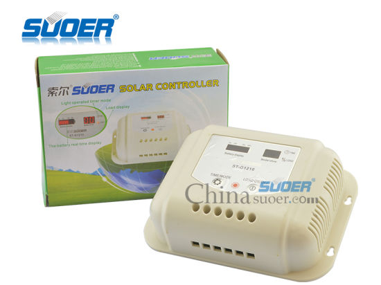 Suoer Hot Sale Solar Controller 12V 10A Solar Charge Controller for Home Use (ST-G1210) pictures & photos