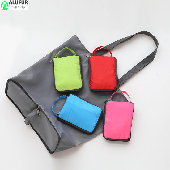 Sturdy Foldable Shopping Bag with Bottom Zipper