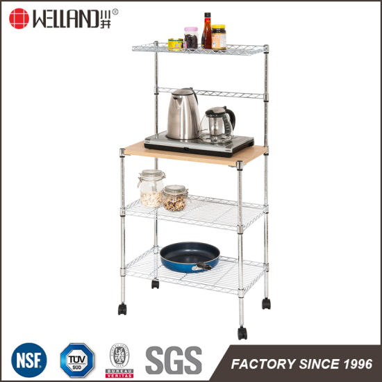 Kitchen Microwave Oven Rack With Wheels