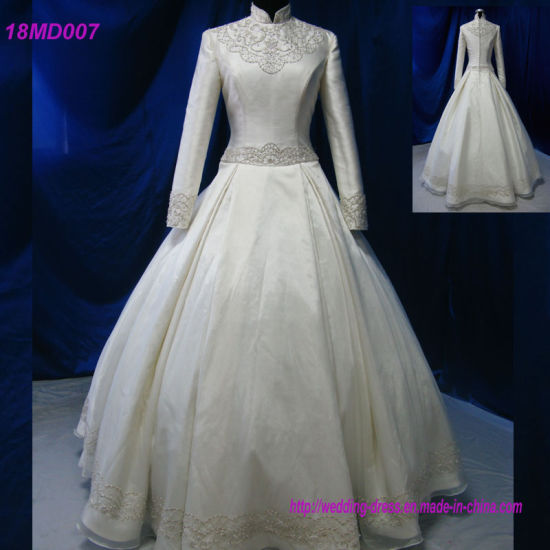 c2ad49cdd15 China Handmade Turkish Bridal Gown Muslim Wedding Dress - China ...