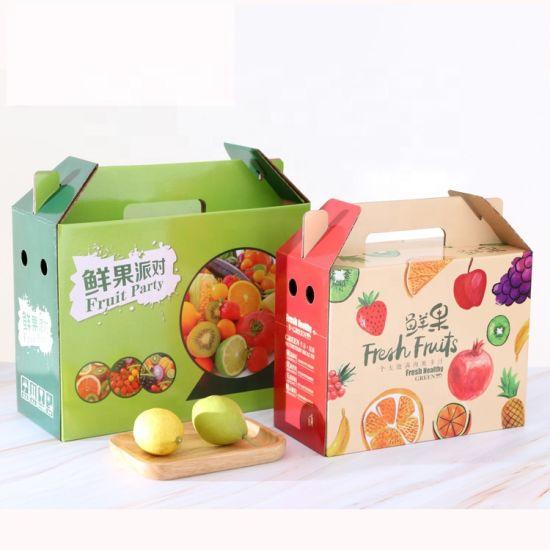 Custom Design Low Price Multi Sizes Cardboard Corrugated Paper Fruit Packaging Boxes