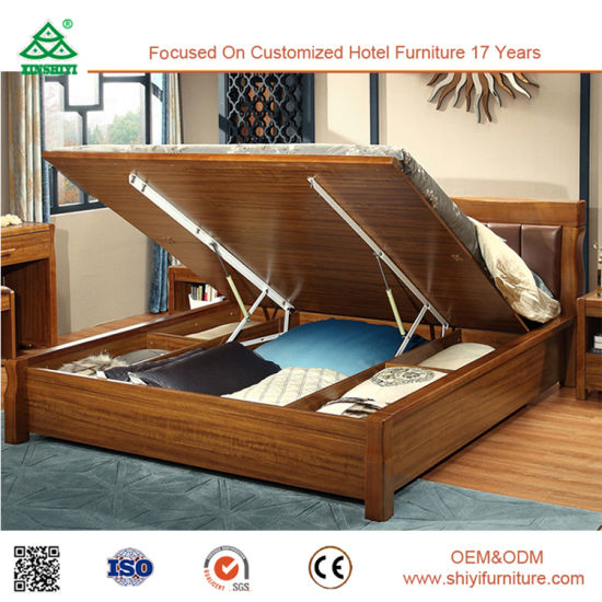 China Storage Bed Lift Up Storage Bed With Wooden Bed Base China