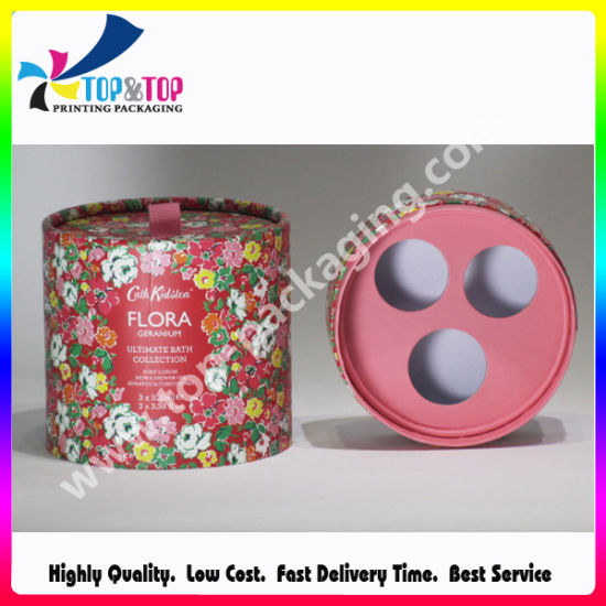 High Quality Round Cosmetics Paper Box with Printing pictures & photos