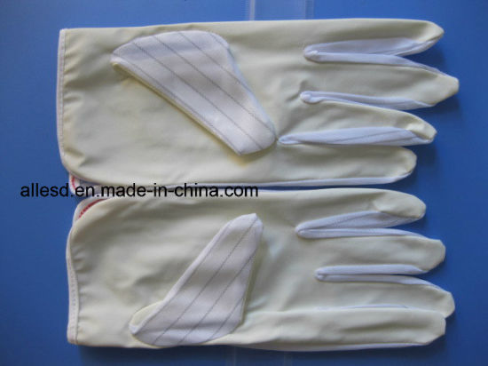 PU Coated Antistatic Gloves for Cleanroom Working pictures & photos