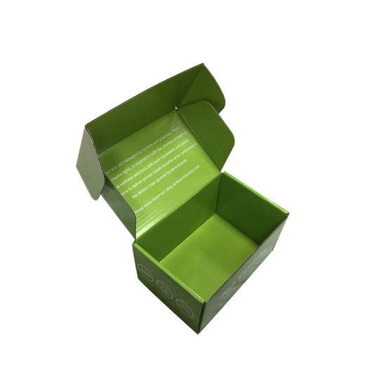 Flat Packed Glossy Shipping Box Wholesale, Carton Box with Customized Logo pictures & photos