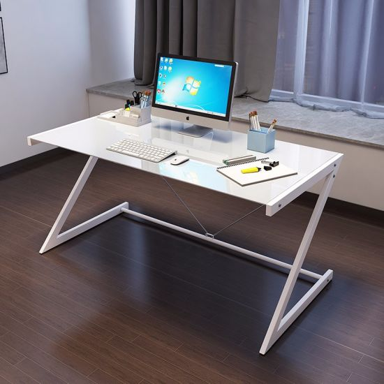 post glass home office desks. White Color Tempered Glass Home Office Computer Desk With Metal Leg Post Desks R
