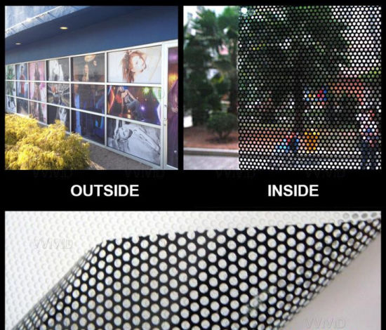 graphic regarding Printable Window Sticker named PVC Printable Gl Window Perforated Vinyl Sticker A person Route Eyesight