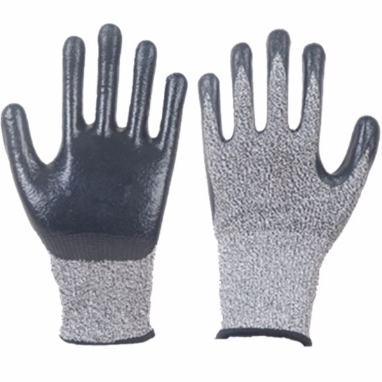 Cut Resistant Nylon Gloves Fks03 pictures & photos