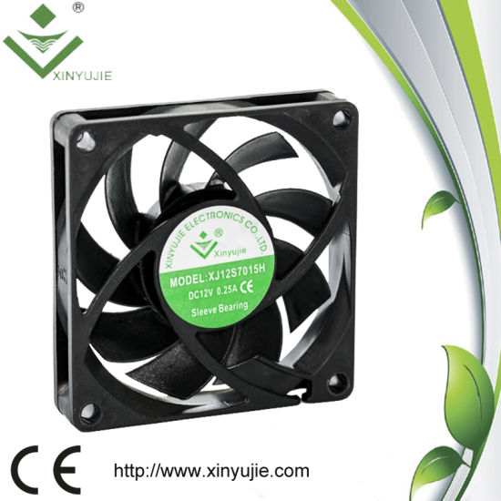 Radiator Fan Motor for 3D Printer 70*70*15mm Welding Axial Machine 3500rpm DC Inverter Cooling Fans pictures & photos