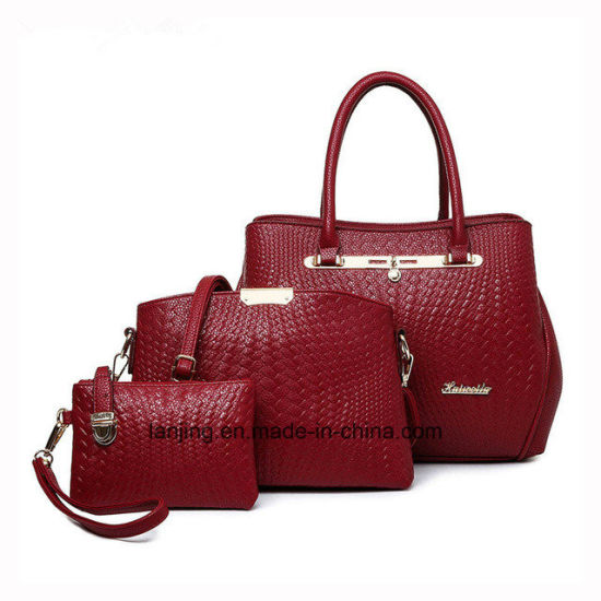 Amazon Hot Sale New Designer 3pieces Women Bag Set Ladies Bags Handbag  pictures   photos 564f7e2fd5