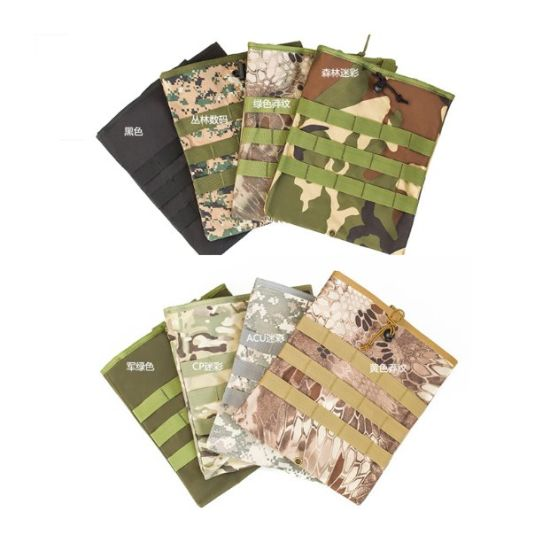 Drawstring Camouflage Waist Bag Travel Package Recycle Tactical Pouch for Promotion