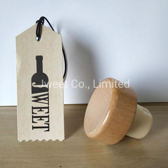 Custom Bottle Stopper T Shape Wooden Cap for Bottles