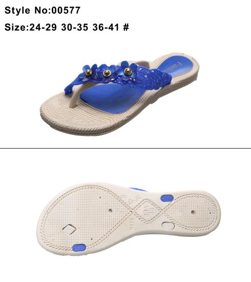 2b3149d35 Metal Decoration EVA Women and Ladies Decorative Straw Clip Toe Flip Flop  Slipper