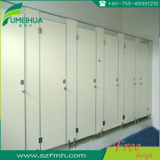 HPL Phenolic Resin Board Modular Toilet Cubicle and Accessories pictures & photos