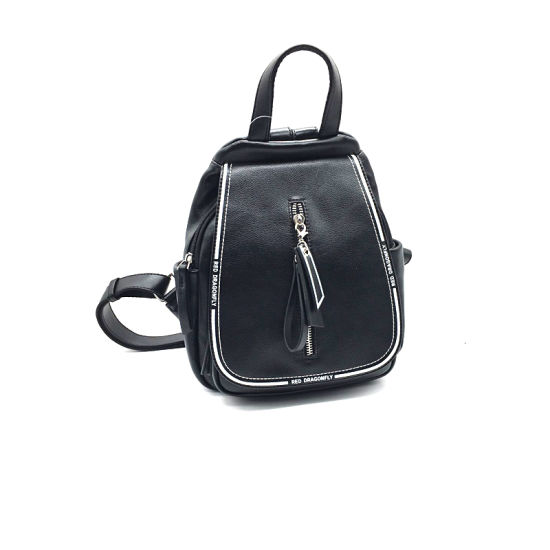 New Design Fashion PU Leather Large Capacity Double Shoulder Bag for Girls