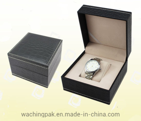 Leather Texture Watch Box Watch Packaging Box Gift Box Factory