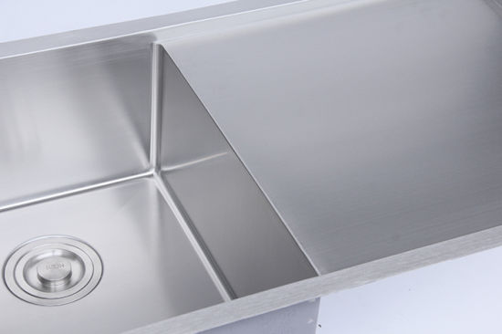 Stainless Steel Under Mount Double Bowl Kitchen Sink with Drainer pictures & photos